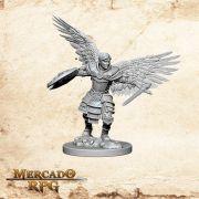 Aasimar Male Fighter A - Miniatura RPG