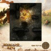 Acampamento nas Ruínas de Kegster25x30 - RPG Battle Grid D&D