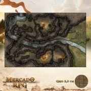 Antro dos Goblinóides  50x75 - RPG Battle Grid D&D