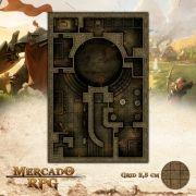 Arena Clandestina Escuro 50x75 - RPG Battle Grid D&D