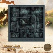 Asilo da Loucura Subsolo 50x50 - RPG Battle Grid D&D