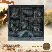 Asilo da Loucura Primeiro Andar 50x50 - RPG Battle Grid D&D