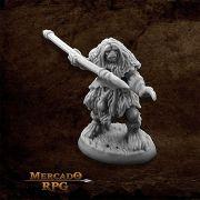 Black Bear Tribe Caveman B - Miniatura RPG
