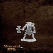 Bloodhoof, Minotaur Barbarian - Miniatura RPG