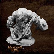 Bluferg, Fire Giant Jailor - Miniatura RPG