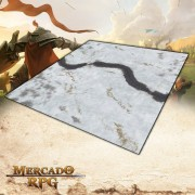 Campos Nevados 120x120 (Com Grid) - Battle Grid Wargame
