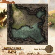 Caverna da Gruta 25x25 - RPG Battle Grid D&D