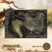 Caverna das Aracnídeas 23x15 - RPG Battle Grid D&D