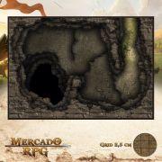 Caverna do Abismo 25x18 - RPG Battle Grid D&D
