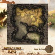 Caverna do Tesouro 25x25 - RPG Battle Grid D&D
