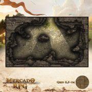 Caverna dos Larápios 25x15 - RPG Battle Grid D&D
