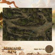 Cavernas nas Colinas Selvagens 50x75 - RPG Battle Grid D&D
