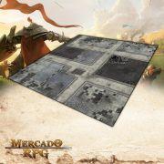 Cidade Futurista B (120x120) - Battle Grid Wargame