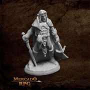 Dark Elf Male Warrior - Miniatura RPG