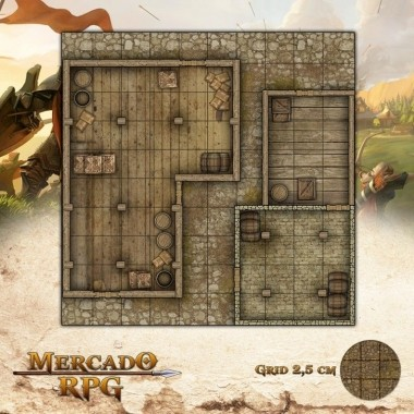 Depósito nas Docas 25x25 - RPG Battle Grid D&D