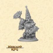Dwarf Defender Boss - Miniatura RPG