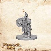 Dwarf Male Barbarian A - Miniatura RPG