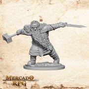 Dwarf Male Fighter A - Miniatura RPG