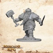 Dwarf Male Fighter B - Miniatura RPG