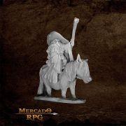 Dwarf Mounted Battle Mage - Miniatura RPG