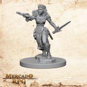 Elf Female Ranger A - Miniatura RPG
