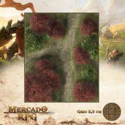 Encruzilhada do Lariço Vermelho 25x30 - RPG Battle Grid D&D