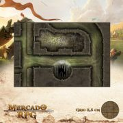 Esgoto - Dutos 25x37 - RPG Battle Grid D&D