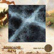 Estrada na Floresta Noturna C 50x50 - RPG Battle Grid D&D