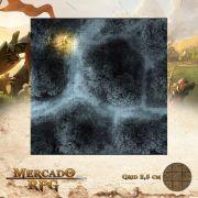 Estrada na Floresta Noturna D 50x50 - RPG Battle Grid D&D