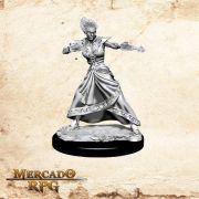 Fire Genasi Female Wizard A - Miniatura RPG