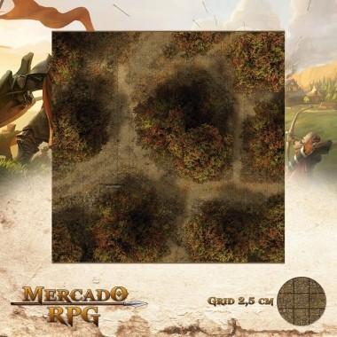 Floresta do Outono D 50x50 - RPG Battle Grid D&D
