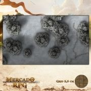 Floresta Nevada 75x42,5 - RPG Battle Grid D&D