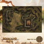 Fortaleza Arruinada 50x75 - RPG Battle Grid D&D