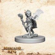 Gnome Male Druid B - Miniatura RPG