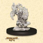 Gnome Male Sorcerer A - Miniatura RPG