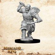 Goliath Male Fighter A - Miniatura RPG