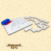 Grid de Batalha Modular Riscável - RPG Battle Grid D&D
