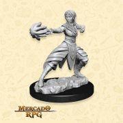Half Elf Female Monk B - Miniatura RPG