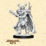 Half-Orc Druid B - Miniatura RPG