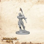 Half-Orc Female Barbarian A