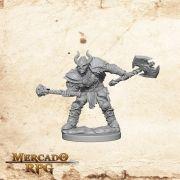 Half-Orc Male Barbarian A - Miniatura RPG