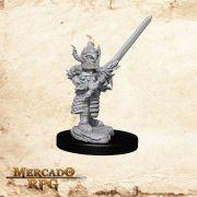 Halfling Male Fighter A - Miniatura RPG
