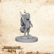 Halfling Male Fighter B - Miniatura RPG