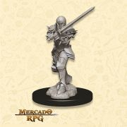 Human Female Fighter C - Miniatura RPG
