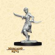 Human Female Rogue D - Miniatura RPG