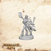 Human Female Sorcerer A - Miniatura RPG