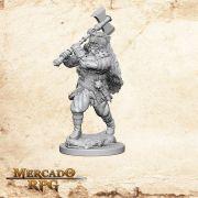 Human Male Barbarian B - Miniatura RPG