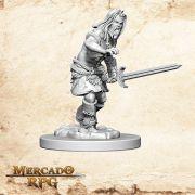 Human Male Barbarian D - Miniatura RPG