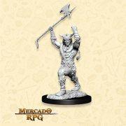Human Male Barbarian E - Miniatura RPG