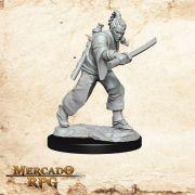 Human Male Monk C - Miniatura RPG
